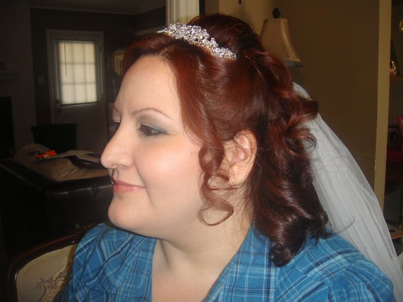 Before bridal portrait - hair and makeup